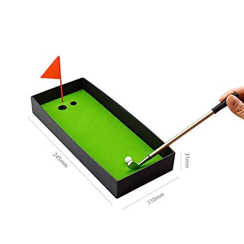 Demason Golfstifte, Golf Set,Golfschläger Kugelschreiber Mini-Golfbälle Golfgeschenkartikel Green 19,6x0,7cm - 5