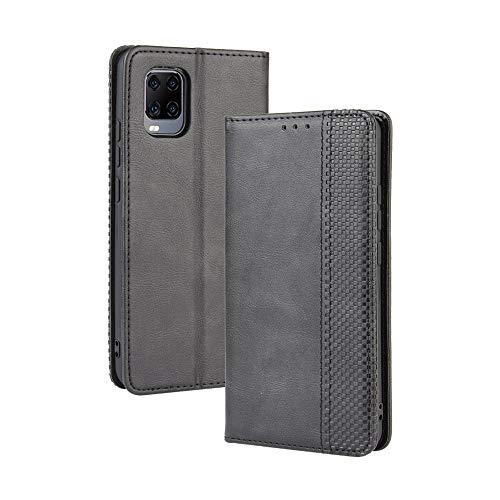 Dedux Flip Hülle kompatibel mit ZTE Axon 11 5G, Retro Leder Brieftasche Abdeckung Magnetverschluss Folio Ständer Kartensteckplätze Handyhülle, Schwarz