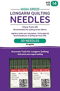 Handi Quilter Longarm Quilting Needles - High-Speed Sharp Point (R) Size 14 (Pack of 20)