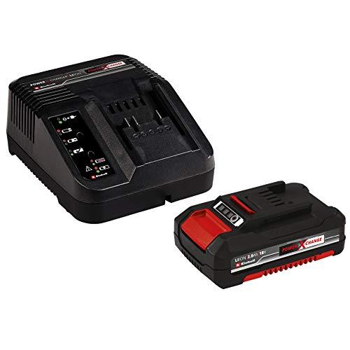 Einhell 4512040 Kit con Cargador batería de Repuesto de 18 V, 2, 0 W, 21 V, Negro, Rojo, 2.0 Ah, duración de carga: 30 minutos