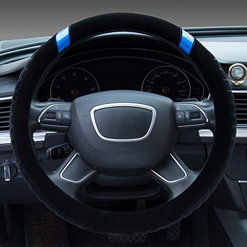 Toyota Stuurwiel Cover Nieuwe Highlander Resolute Prado Aziatische Draak Pluche Stuurwiel Cover Automotive interieur Blauw