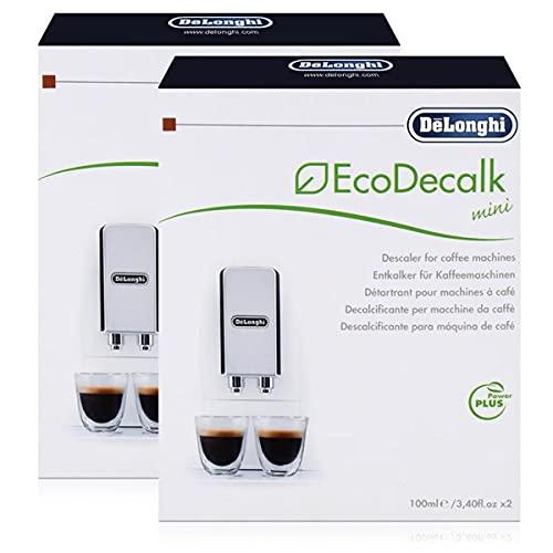 2x Delonghi Entkalker Eco Dekalk mini 200ml für Kaffee Espresso Vollautomaten