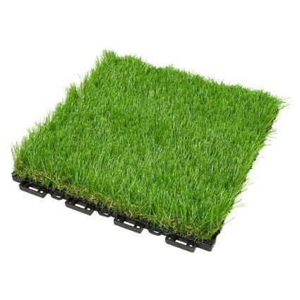 Photo de pelouse-synthetique-herbe-carreaux-resistant-aux-uv