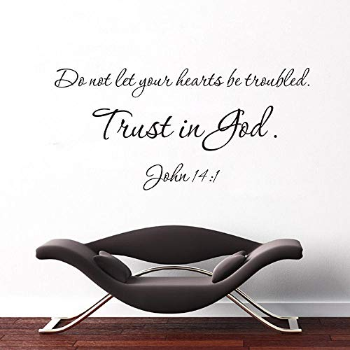 The World truth bible quote trust is god removable vinyl home decals Wall stickers christian family bless pray words mural hot