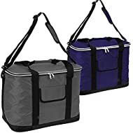 EXTRA-LARGE COOLER BAG - 30 Ltr/60 Can extra-large cool bag THE PERFECT FAMILY COOLER PICNIC BAG - Always have on hand fresh beverage with this stylish bag FEATURES - Adjustable shoulder strap, zip-up top and a handy front pocket QUALITY MATERIALS - ...