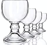 Schooner Beer Glasses Set - 21-ounce Large Margarita Glass, Big Goblet Style Beer Glass fo...