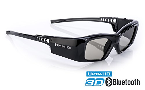 Hi-SHOCK BT Pro Black Diamond | 3D Glasses for 3D TV by Sony, Samsung, Panasonic, Sharp, Toshiba, LG Plasma | comp with TDG-BT500A / SSG-3570CR / T