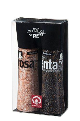 Carmencita,  Molinillos de Sal Rosa y Pimienta Negra - 1 paquete