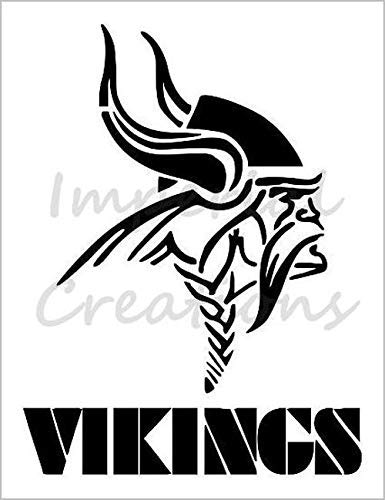 "MINNESOTA VIKINGS Football Team 8.5"" x 11"" Stencil 20 MIL Sheet S90"