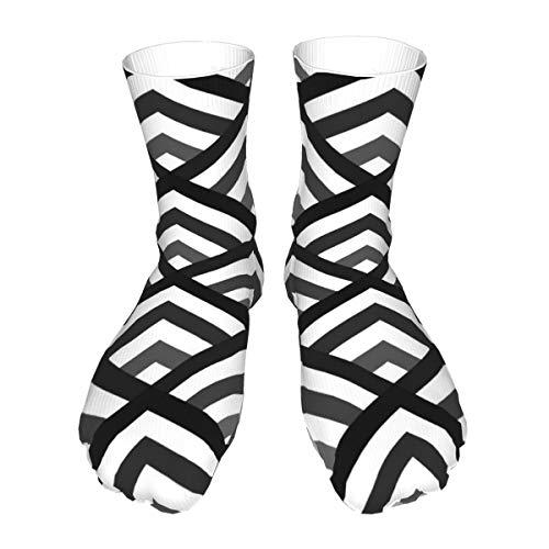Chevron ángulo soporte calcetines ocasionales hombres y mujeres caliente grueso fresco colorido largo tubo medias