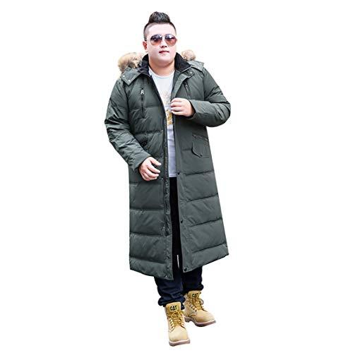 Heren Oversized Winterjas, Geschikt voor Heren 50-195kg, Modieuze Hooded Coltrui Warm Down Jack, Geschikt voor Sterke Obese Mannen, Geschikt voor Outdoor Sports
