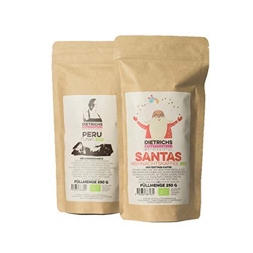 2x 250g handgerösteter BIO Kaffee SANTA & PERU ganze Bohnen
