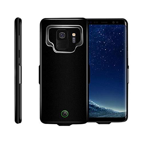 MYGIRLE Samsung Galaxy S9 Akku Hülle, 7000mAh Integrierten Zusatzakku Battery Case [Stoßfest][Anti-Kratz][Ganzkörperschutz] Auflade Akkupack Externe Power Bank Ladegerät Hülle für S9