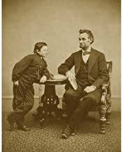 DS Decor Photos Quality Digital Print of a Vintage Photograph - Abraham Lincoln with Son Tad, 1865. Sepia Tone 11x14 inches - Luster Finish