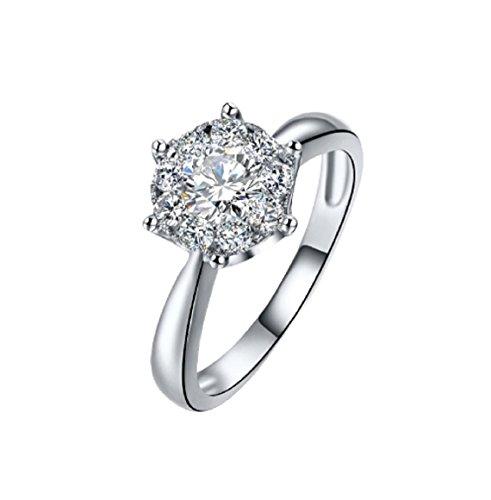 Gowe 18K Gold Diamant Ring Frauen Mädchen Liebhaber Paar Geschenk Natur Groß Diamant Classic Six Claw 1CT 2ct Karat echtem Hochzeit vorschlagen