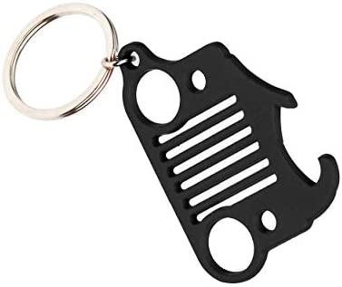 EVAPLUS Car Key Ring with Bottle Opener for Jeep Wrangler Accessories Pink