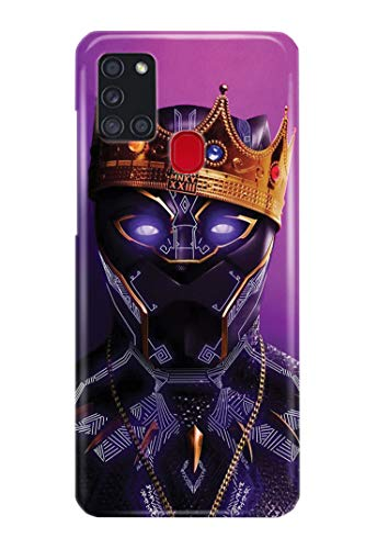 Hülle Me Up Handy Hülle für Samsung Galaxy A21S Black Panther T'Challa Superhero Marvel Comics 9 Designs