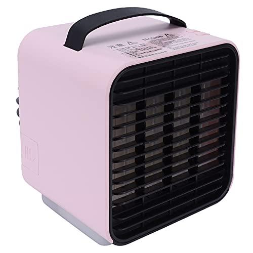 Raffreddatore d'aria evaporativo, ventola del condizionatore d'aria portatile regolabile con 3 velocità del vento e ioni negativi, ventola di raffreddamento ad aria da tavolo ricaricabile tramite USB