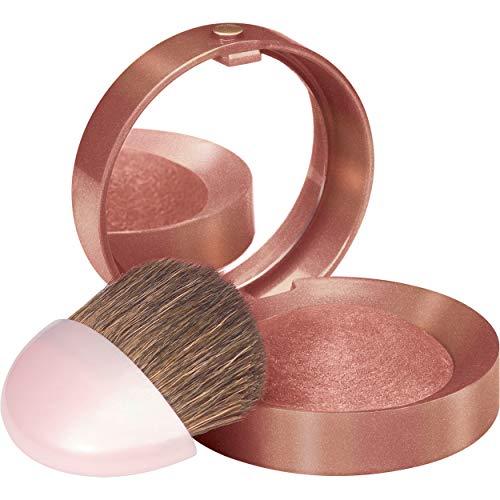 Bourjois - Blush Boite Ronde - Texture fine et légère - Pinceau applicateur et miroir intégrés - 92 Santal 2,5gr