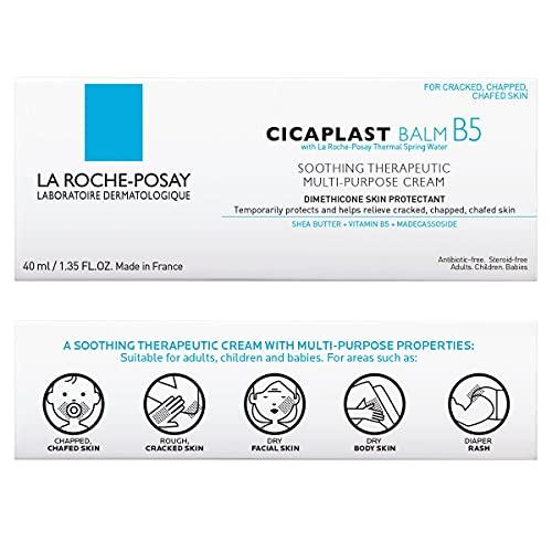 La Roche-Posay Cicaplast Balm B5, Soothing Therapeutic Multi Purpose Cream for Dry