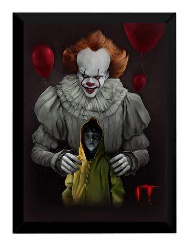 Poster Moldurado Arte It A Coisa Quadro Stephen King Filme