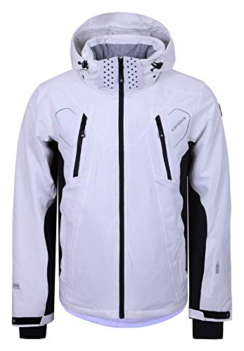 Icepeak Herren Skijacke Nemo (weiß - schwarz) Outdoor Funktionsjacke, Gr. 58