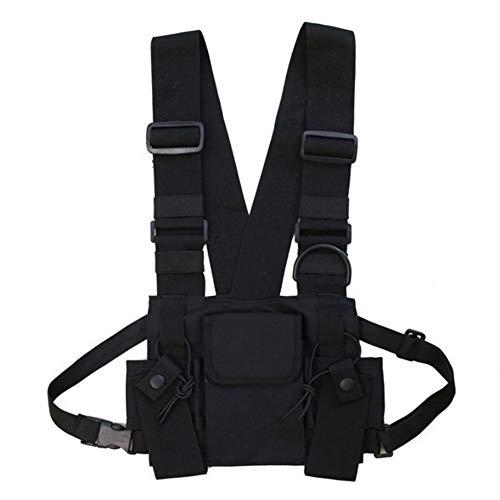 Balight Men Women Chest Rig Bag Chaleco multibolsillos Hip H