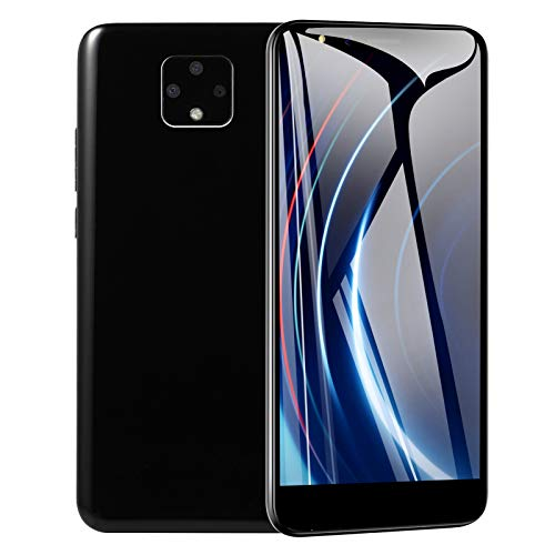 Smartphone 5.8In 3G 2.0 MP Dual Sim Reconocimiento Facial Smartphone, MTK6572 Potente procesador Cámara HD Tarjeta de Memoria de 32 GB Teléfono móvil de Gran Memoria (Nero)