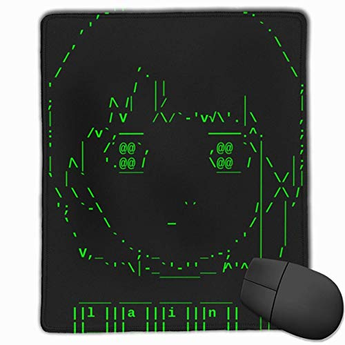 Mausemat Ascii Lain Keyboard Gaming Mausmatte Rutschfester Bedruckter Tischgummi Mit Genähter Kante Personalisiertes Office Mousepad Anime Computer 25X30Cm Mauspad