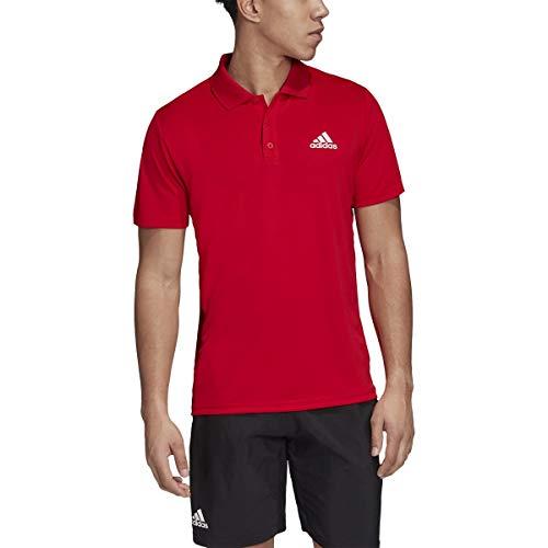 adidas Men's Club Rib Polo, Scarlet, XX-Large