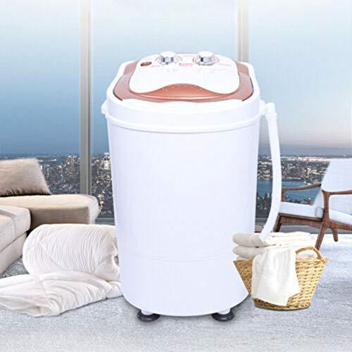 Mini lavadora,Lavadora de viaje móvil,Mini lavadora portátil de 6kg,Con lavadora de deshidratación,Lavadora de carga superior,Lavadora con centrifugadora,Aproximadamente 54x35x34cm