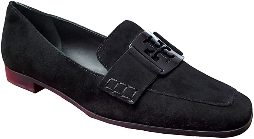 Tory Burch Women's Perfect Black Embossed Georgia Loafers Shoes