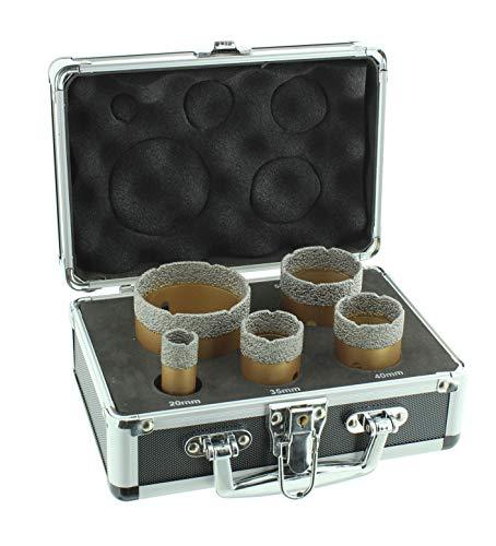 Diamantbohrkronen Set Winkelschleifer M14 Aufnahme Fliesenbohrkrone 20, 35, 40, 50 und 68mm