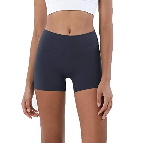 YUDIZWS Leggings Deporte Mujer Cintura Alta Mallas Pantalones Panal Arrugado para Nalgas Fitness Running Elásticos Y Transpirables (Color : Navy, Size : L)