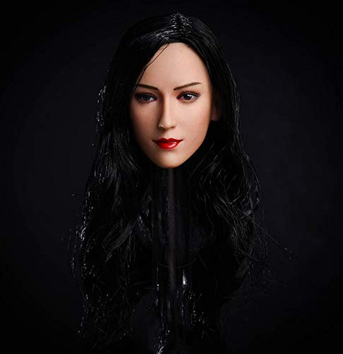 HiPlay 1/6 Scale Female Figure Head Sculpt, Beauty Charming Girl Doll Head for 12