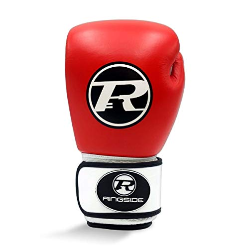 Ringside Boxhandschuh, Rot/Weiß, 400 g