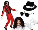 I LOVE FANCY DRESS LTD Disfraz del Rey del Pop Deluxe para NIÑOS - con Accesorios (Mediano)
