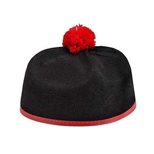 Boland 04280 Hut Kardinal, schwarz/rot