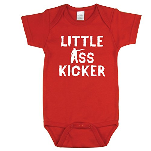 Nursery Decals and More Zombies, Walking Dead Inspired, Little Ass Kicker, Red 0-3 mo