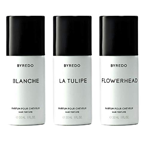 Byredo Triple Gagnant Fleurs Hair Perfume Trio Blanche + Flowerhead + La Tulipe 3x 30ml