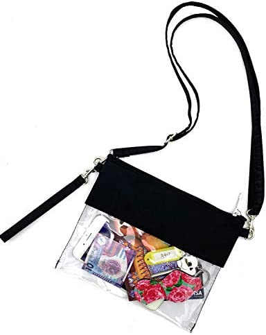 VIEEL Clear Tote Bag Adjustable Clear Strap Bag NFL approved Clear Vinyl Bag Gameday Crossbody product image