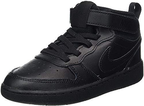 Nike Court Borough Mid 2 (TDV), Scarpe da Basket Bambino, Black/Black-Black, 22 EU