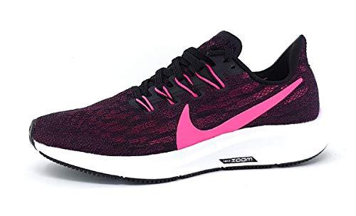 Nike Wmns Air Zoom Pegasus 36, Zapatillas de Running para Asfalto Mujer, Multicolor (Black/Pink Blast/True Berry/White 009), 39 EU