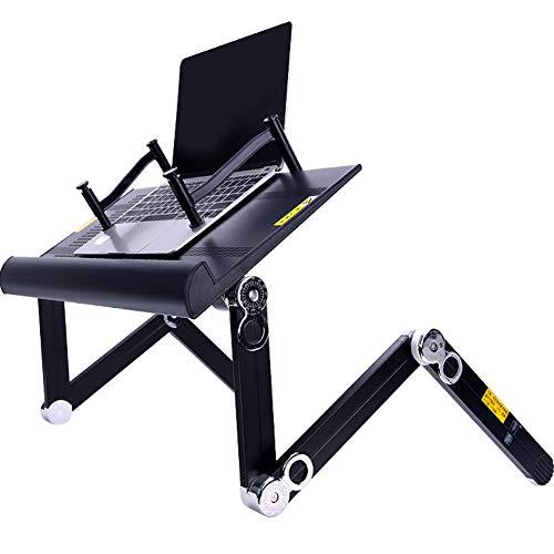 KIKTS opvouwbare laptop bureau standaard met muis platform voor bed en bank, gezellige bureau draagbare verstelbare laptop tafel stand up voor kijken film op bed