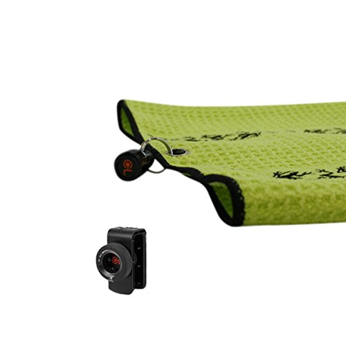 Frogger Golf TRAX Microfiber Golf Towel with Latch-It Magnetic Bag Attachment