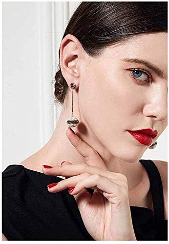 Collar Colgante Pareja Pendientes de Perlas Joyas para Mujeres Niñas S925 Caja de Regalo de Plata con Temperamento Premium Regalo Adecuado YUAHJIGE