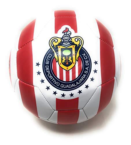Chivas De Guadalajara Soccer Ball Size 5 Futbol Official Licensed Balon de Futbol Liga MX - Great for Kids, Players, Trainers, Coaches Gift Idea