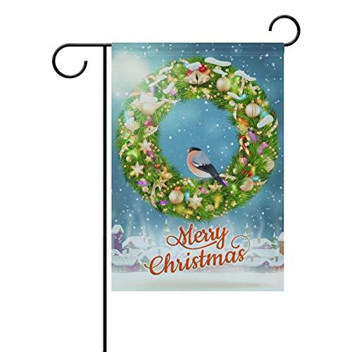 LIANCHENYI Vogelflagge im Winter, doppelseitig, Polyester, für den Außenbereich, Party, Deko, Gartenflagge, 30,5 x 45,7 cm, Polyester, Multi, 28x40(in)