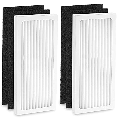 Cabiclean 2 HEPA with 4 Carbon Filter Compatible with Hamilton Beach 04383 Air Purifier 04384 04385 HEPA Filter Replacement, Part...