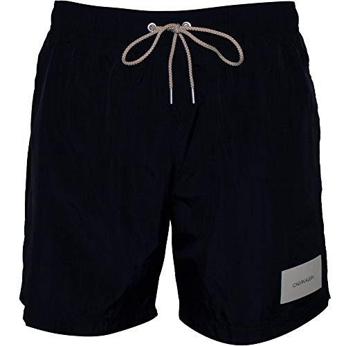 Calvin Klein Premium Logo Patch Zwembroek voor heren, zwart